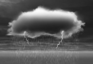 storm cloud with lightning