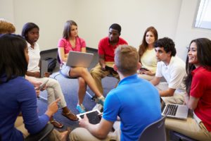 Students In Group Discussion